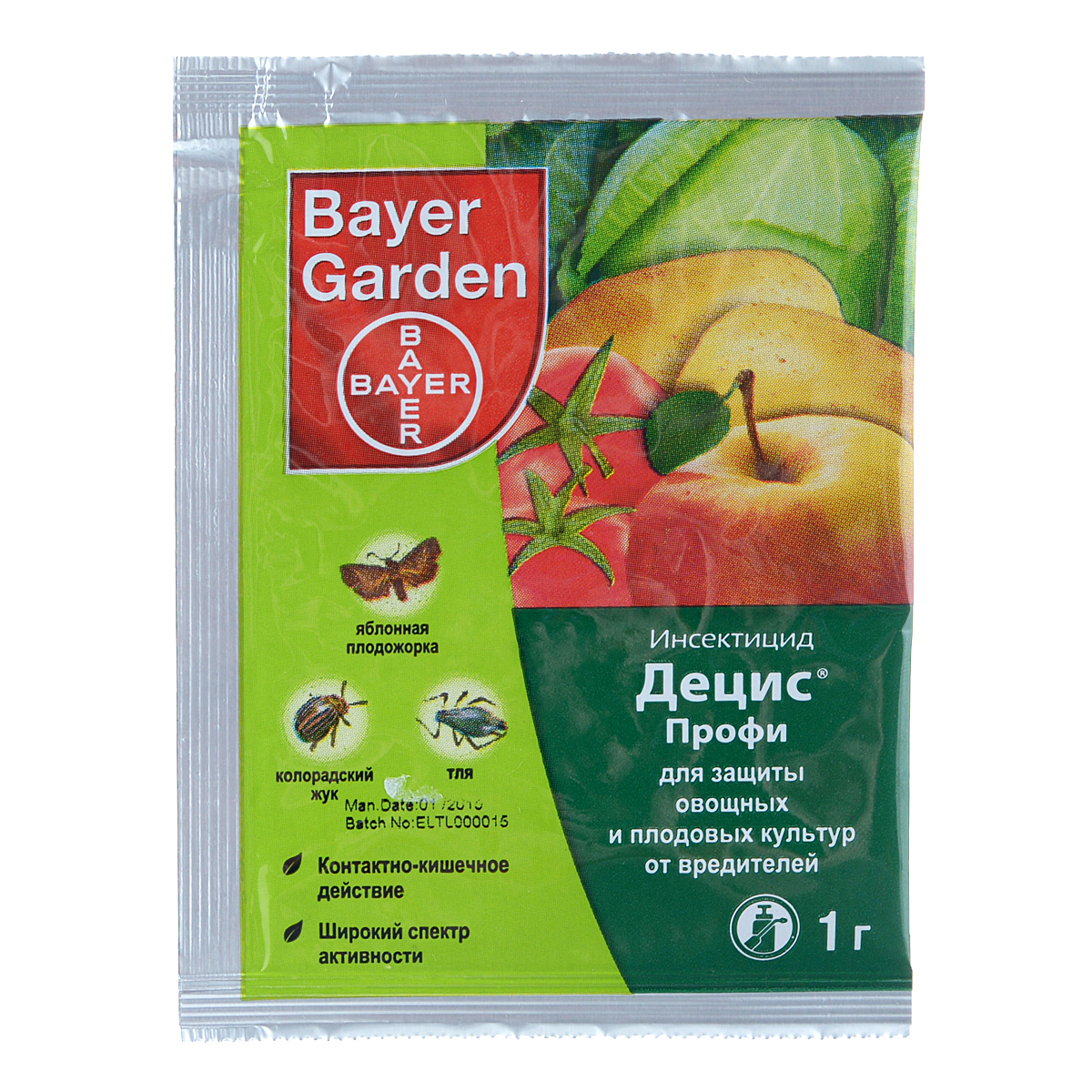 Инсектицид Bayer Garden Децис Профи, для защиты овощных и плодовых культур от вредителей, 1 г цена