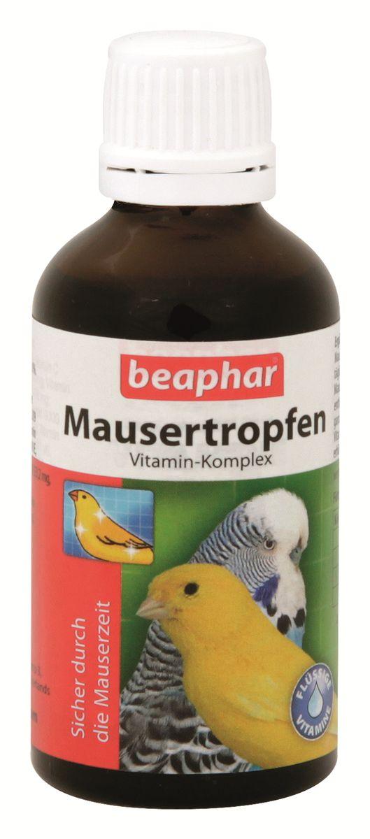 Витамины для птиц Beaphar Mausertropfen, в период линьки, 50 мл