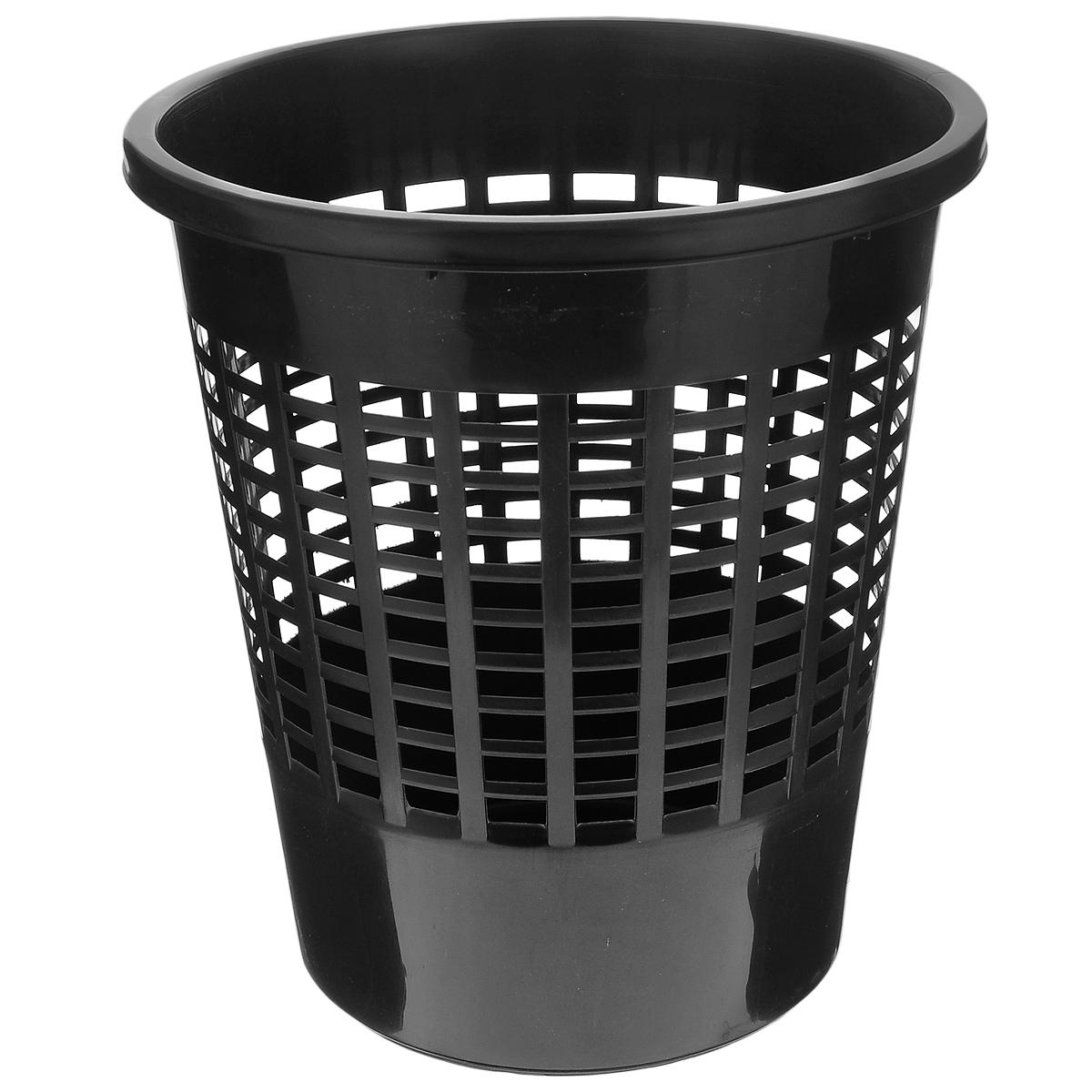 Корзина для бумаг Curver Basics, цвет: черный, высота 30 см