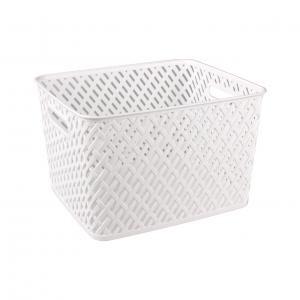 Корзина Альтернатива Плетенка, цвет: белый, 35 х 29 х 22,5 см ершик для туалета альтернатива плетенка белый