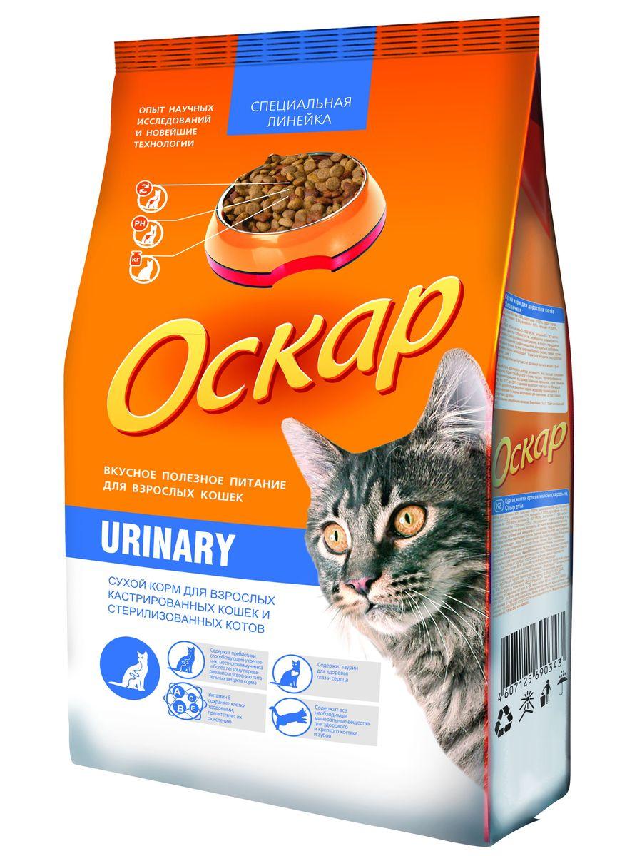 """Корм сухой Оскар """"Urinary"""" для стерилизованных кошек и кастрированных котов, 400 г"""