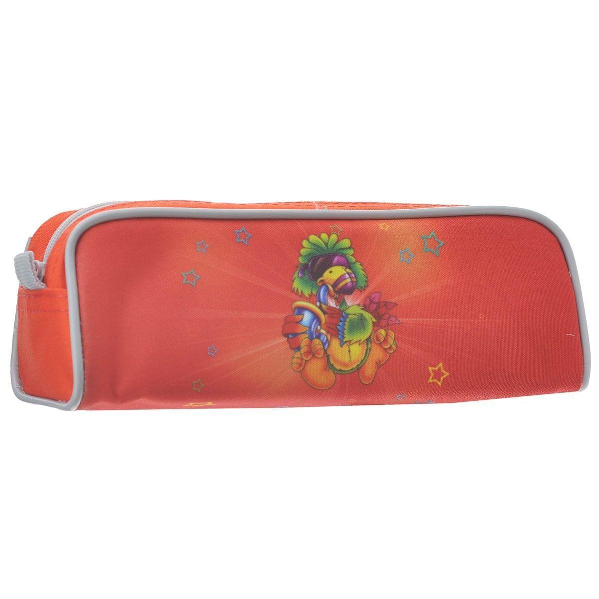 Пенал на молнии JOYFUL BIRDIE, без наполнения, 1 отделение, цвет: красный пенал односекционный tiger family joyful birdie цвет синий c36873
