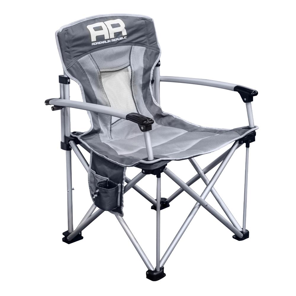 Кресло складное Adrenalin Republic Mighty Duke, цвет: серый, 62 см х 65 см х 94 см