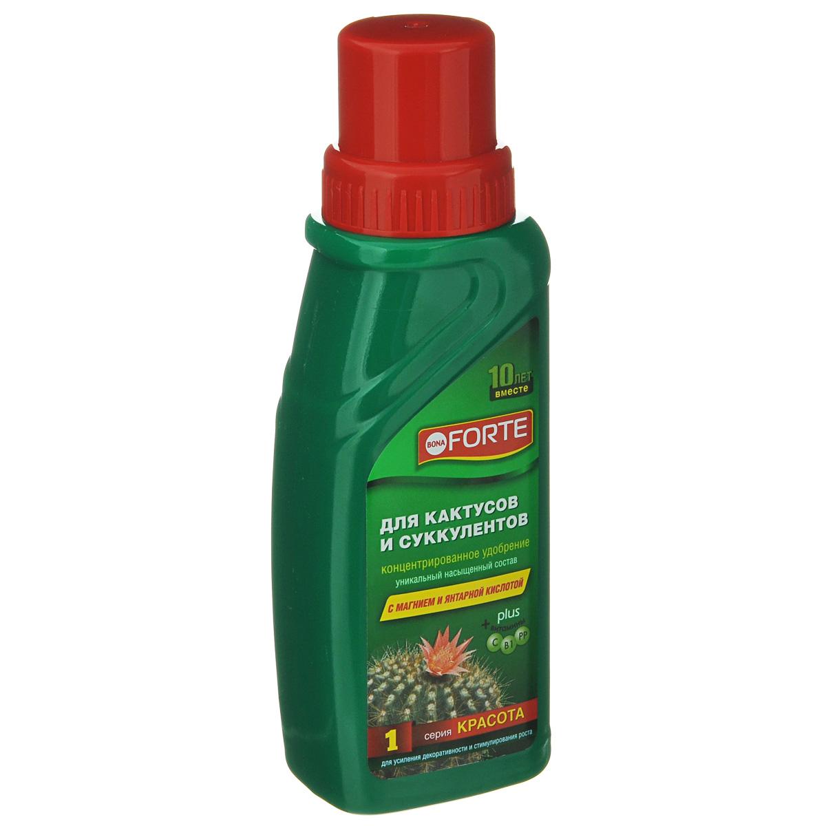 Удобрение концентрированное Bona Forte, для кактусов и суккулентов, 285 мл удобрение жк bona forte для роз и хризантем 285 мл