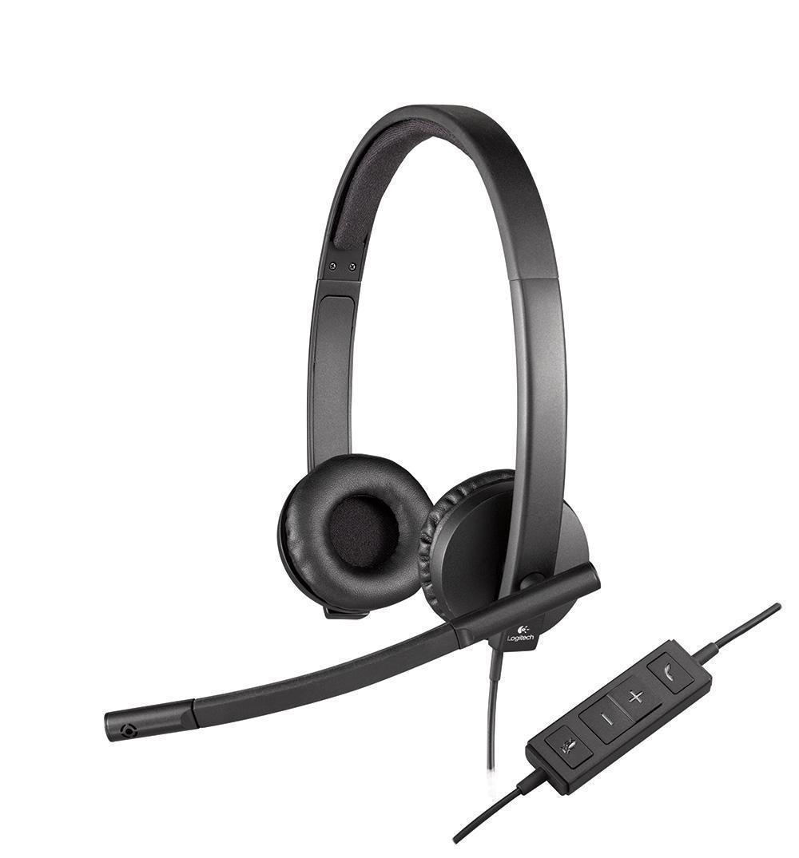 Компьютерная гарнитура Logitech H570e Stereo USB (981-000575) гарнитура logitech h570e stereo usb 981 000575