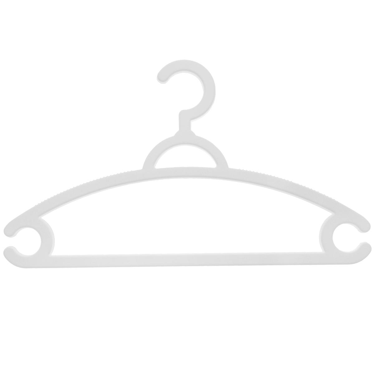 Набор вешалок для легкой одежды М-пластика, цвет: белый, 3 шт набор вешалок для одежды home queen цветы цвет голубой белый 3 шт