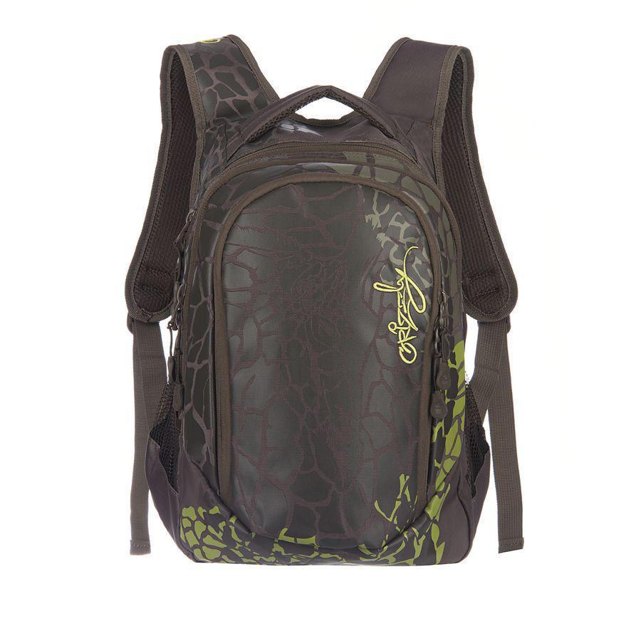 Рюкзак городской Grizzly, цвет: хаки, 22 л. RD-534-1/3 рюкзак молодежный женский grizzly цвет серый розовый 12 5 л rd 755 2 2