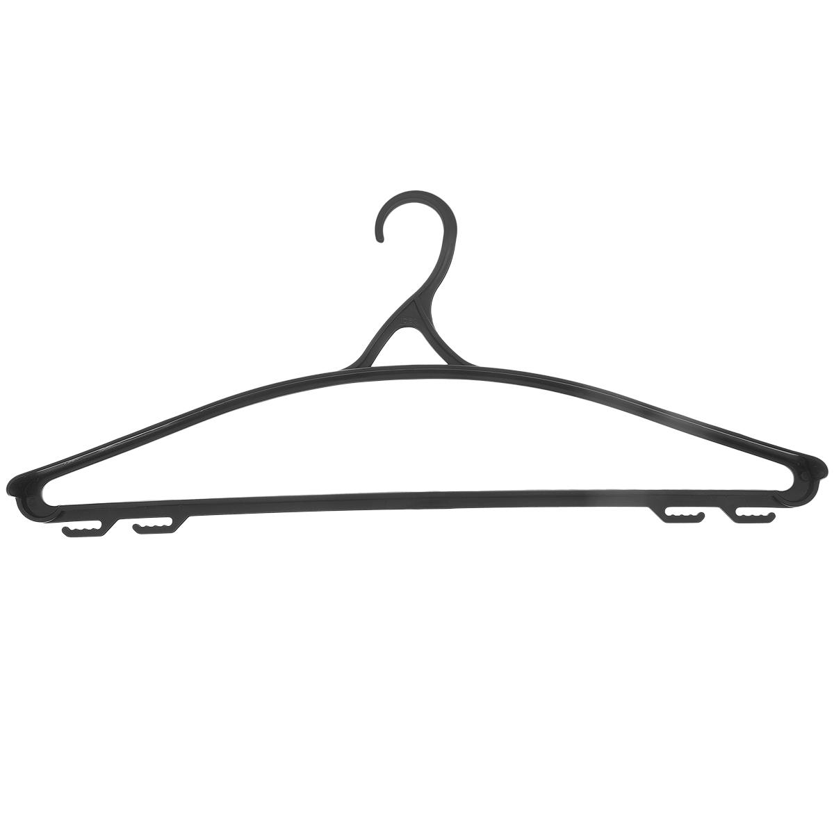 """Вешалка для одежды """"М-пластика"""", цвет: черный, размер 50-52"""