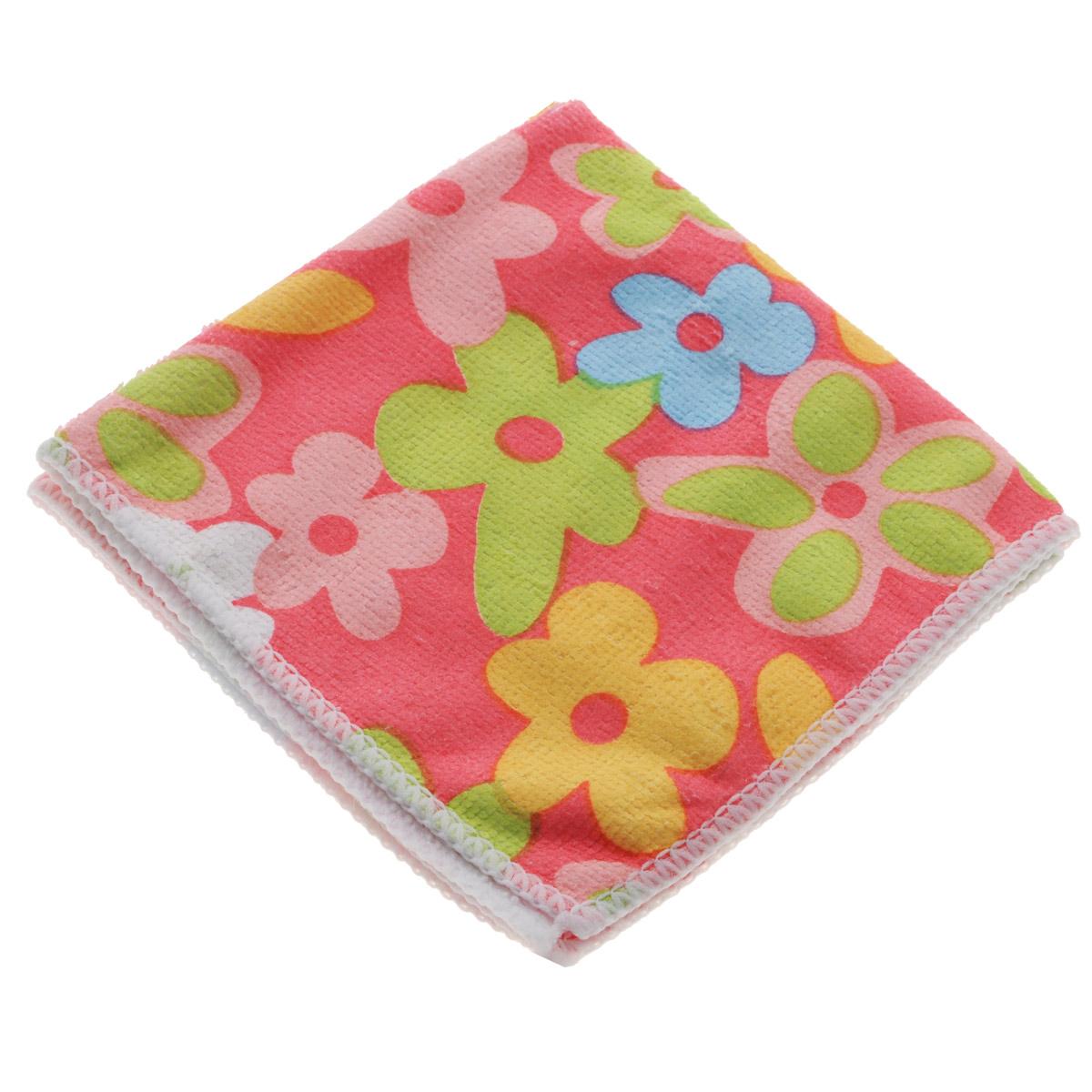 Салфетка для уборки You'll Love Цветы, цвет: розовый, 30 см х 30 см салфетка home queen цветы цвет синий диаметр 30 см
