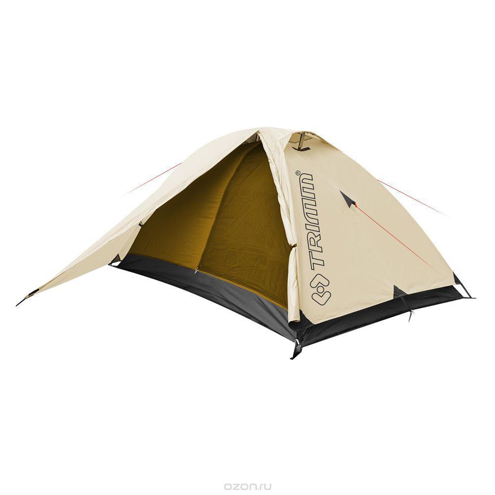 Палатка двухместная Trimm COMPACT 2, цвет: песочный подушка trimm gentle camouflage 46931