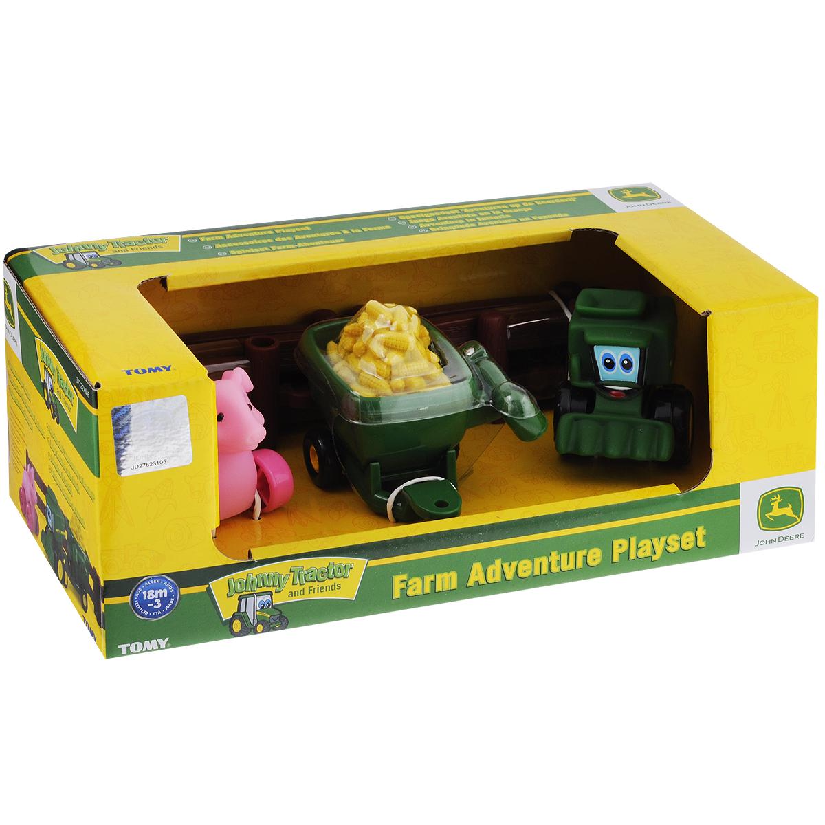 Игровой набор Tomy Приключения трактора Джонни и его друзей на ферме: Поросенок