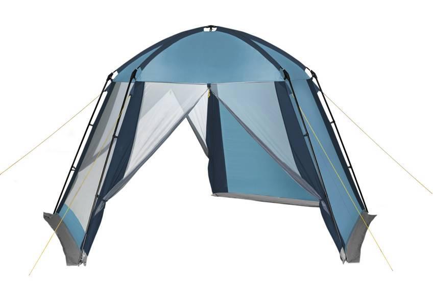 Шатер-тент TREK PLANET Weekend Dome, пятиугольной формы, цвет: синий, голубой, 395 х 410 х 215 см шатер тент trek planet event dome четырехугольный 425 х 425 х 235 см цвет синий голубой