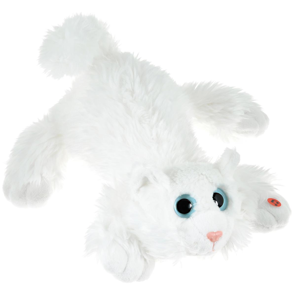 Gulliver Мягкая игрушка Котик Шалунишка цвет белый 30 см