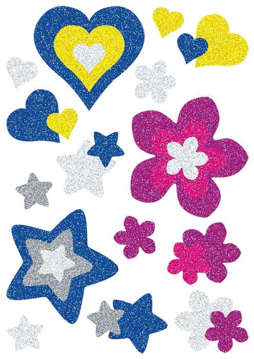 Наклейки Magic Сердца, цветы и звезды 1000pcs transistor mpsa 42 mpsa42 a42 mps a42 to 92