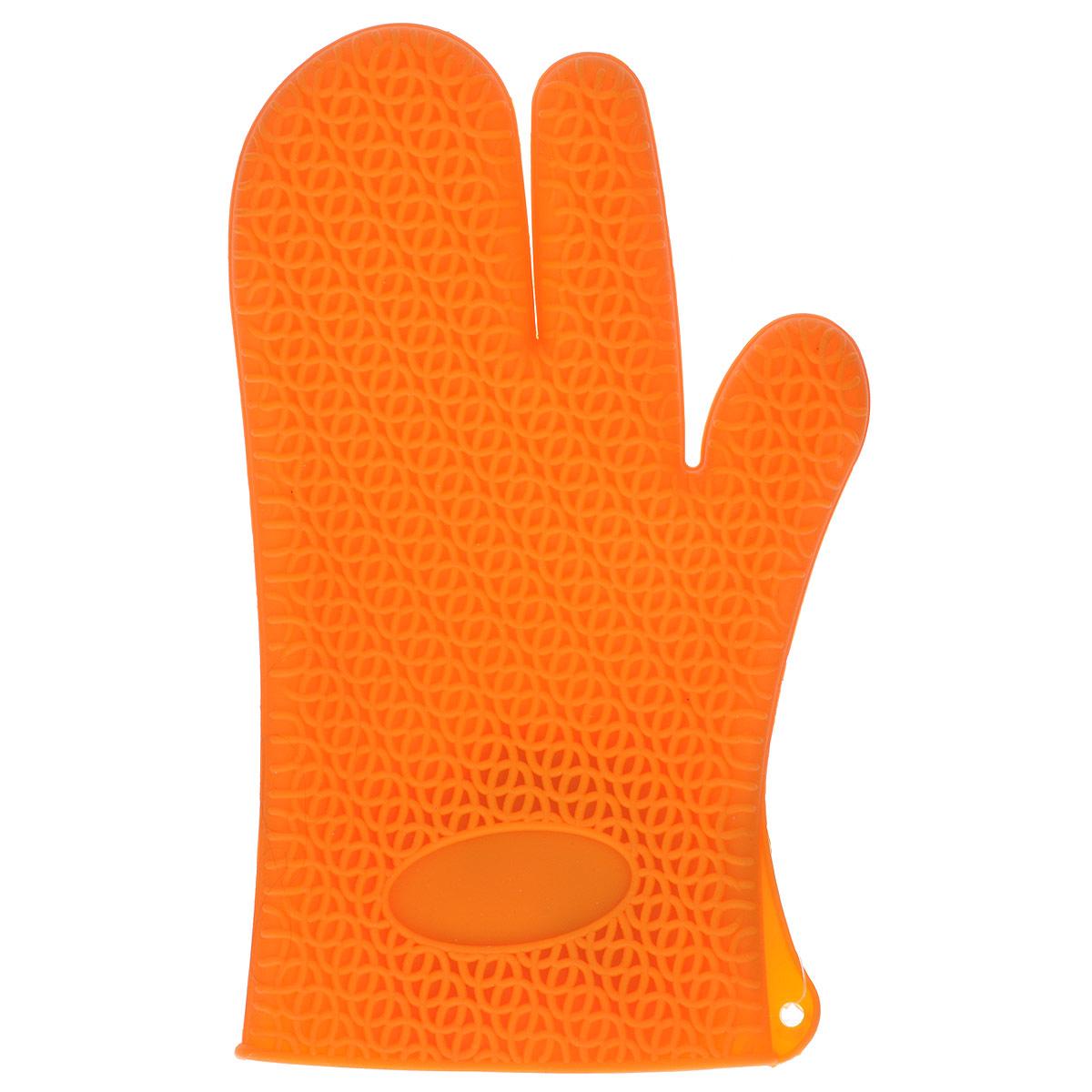 """Рукавица для кухни """"Marmiton"""", силиконовая, цвет: оранжевый"""