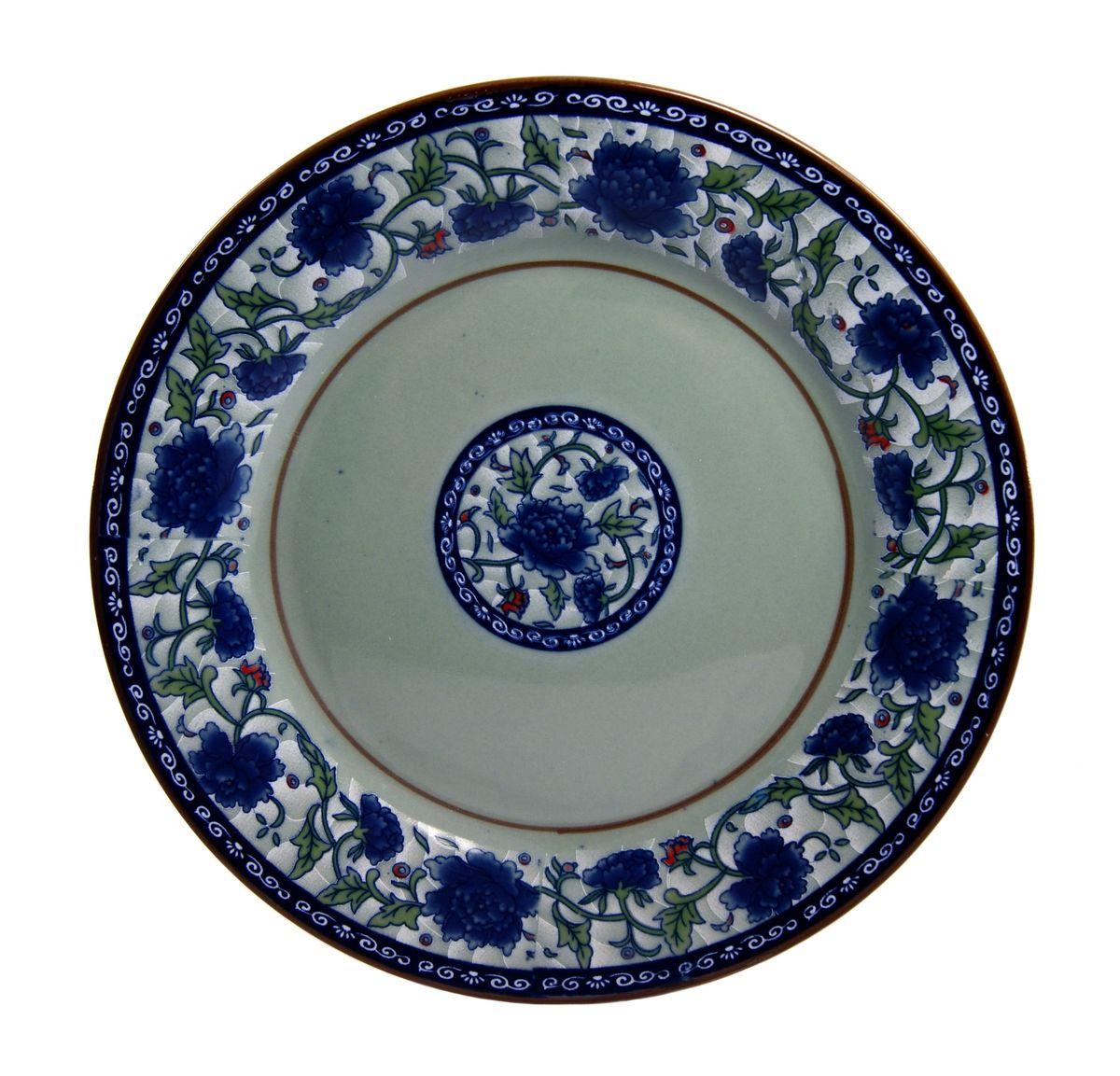 Фото - Тарелка для горячего Nanshan Porcelain Харбин, диаметр 25 см тарелка turon porcelain атлас цвет белый синий золотистый диаметр 22 5 см