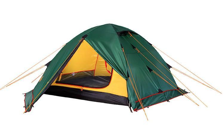 Палатка Alexika Rondo 4 Plus, цвет: зеленый, желтый, 420 х 215 х 125 см
