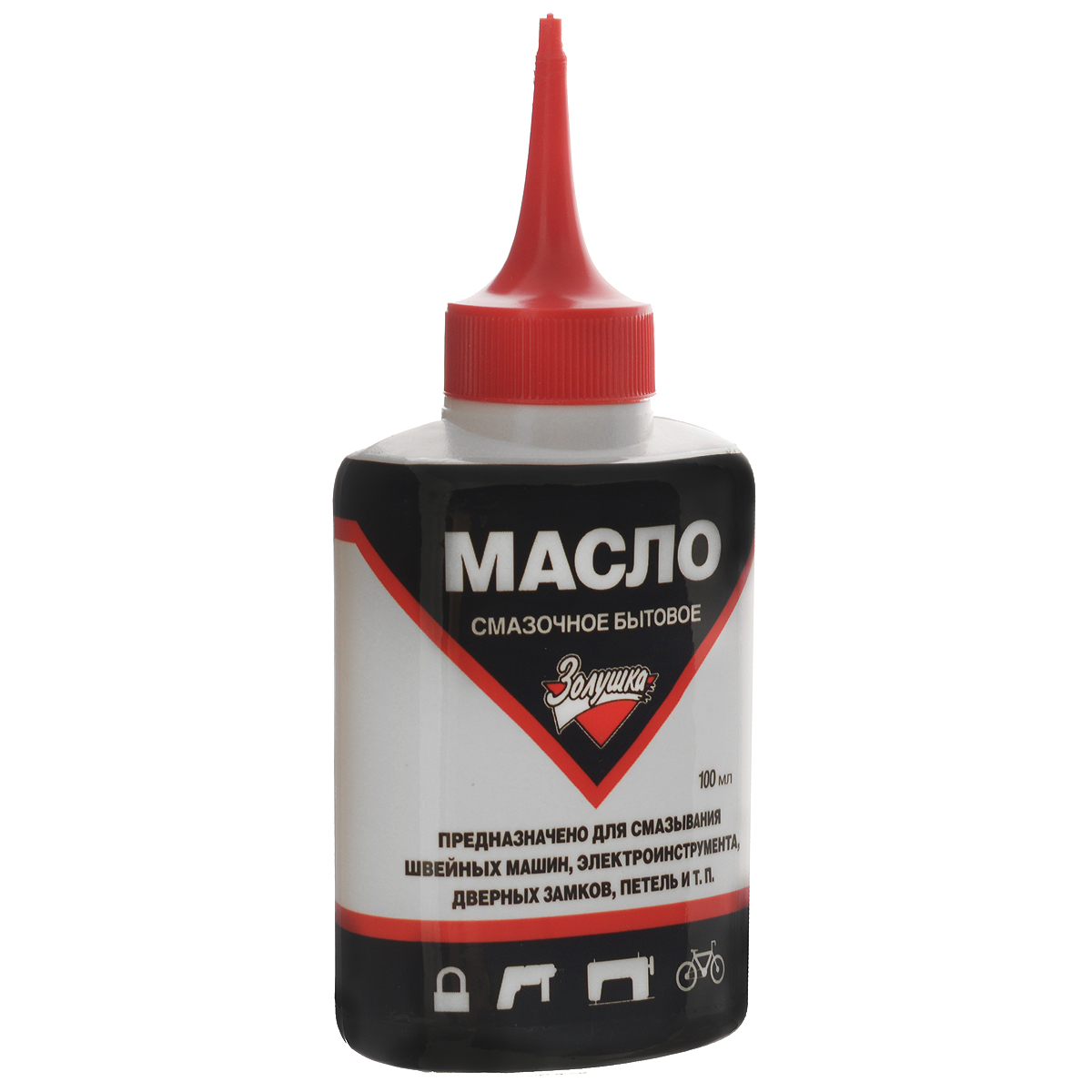 Масло смазочное Золушка, бытовое, 100 млМ 2154Бытовое смазочное масло Золушка высшего качества предназначено для смазывания швейных машин, электроинструмента, дверных замков, петель. Оно необходимо для нормальной работы инструментов, а также продления их срока службы. Масло бесцветное, не содержит смол и кислот, а также не имеет резкого запаха. Оно упаковано в пластиковую бутылочку с длинным носиком-дозатором для удобного нанесения и распределения. Объем: 100 мл. Рекомендуем!