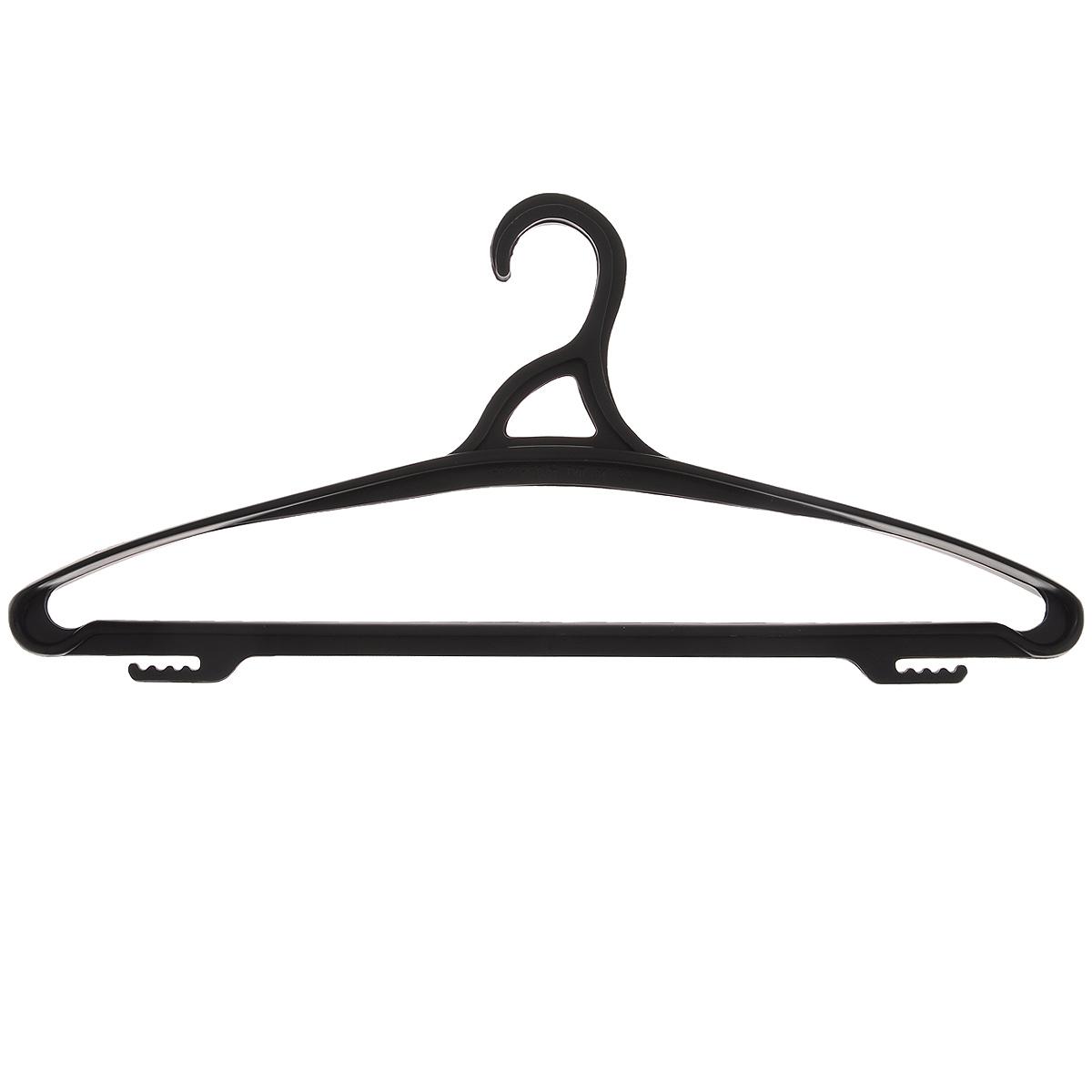 Вешалка для одежды Бытпласт, цвет: черный, размер 48-50 цена