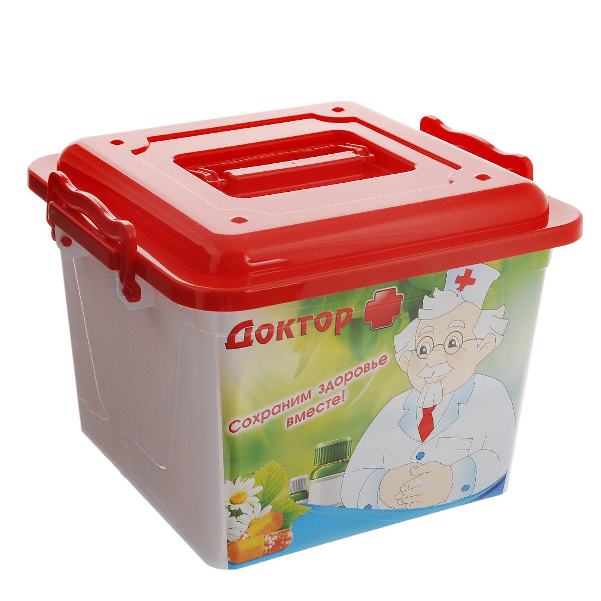 Контейнер Альтернатива Доктор плюс, 8,5 л ящики для игрушек альтернатива башпласт контейнер лапландия 7 л