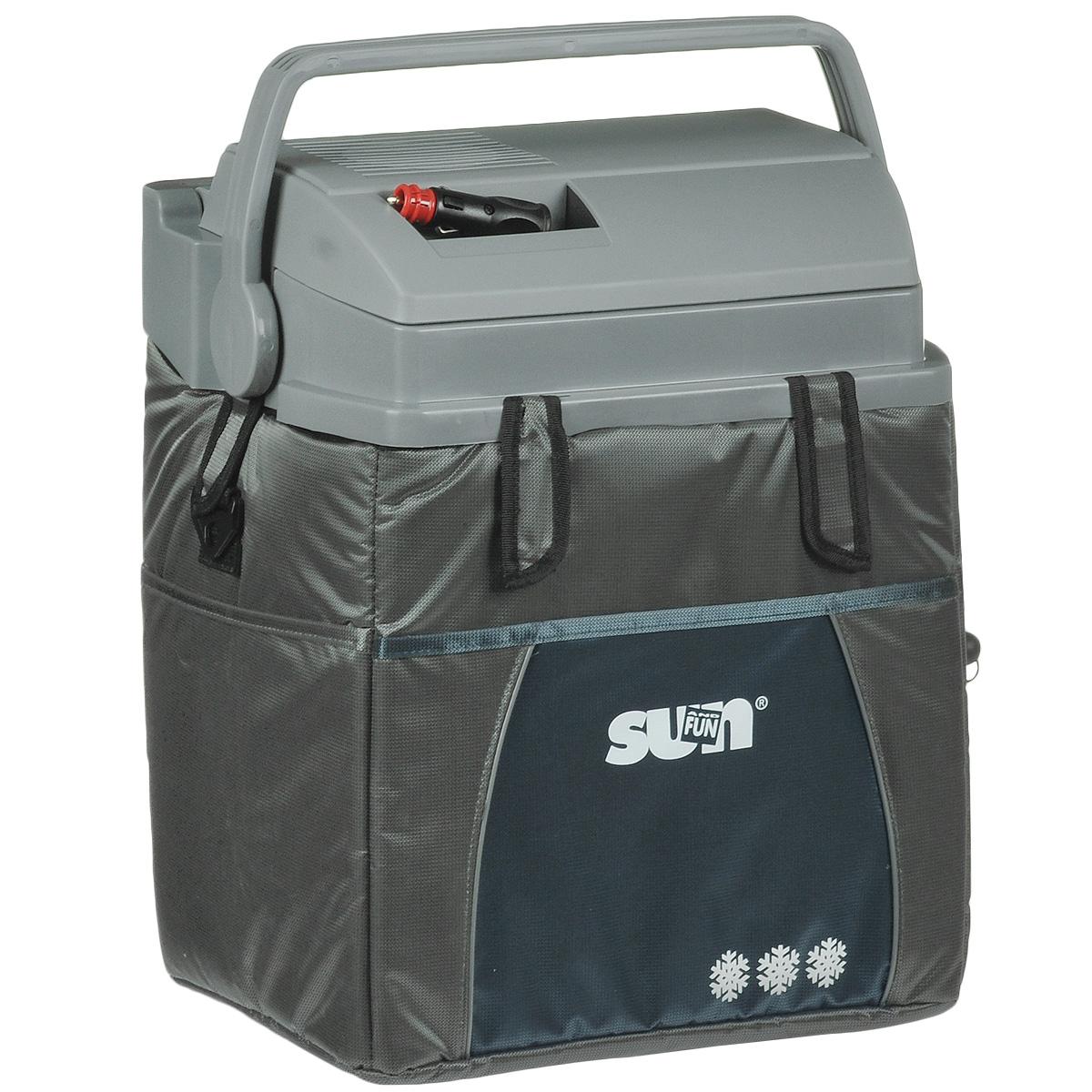 Термоэлектрический контейнер охлаждения Ezetil ESC 21 Sun & Fun 12V, цвет: серый, 19,6 л