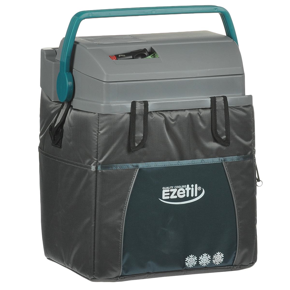 Термоэлектрический контейнер охлаждения Ezetil ESC 21 12V, цвет: серый, 19,6 л термоэлектрический контейнер охлаждения ezetil e21 12v цвет красный серый 19 6 л