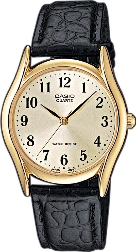Часы наручные мужские Casio, цвет: золотистый, белый, черный. MTP-1154PQ-7B2 все цены