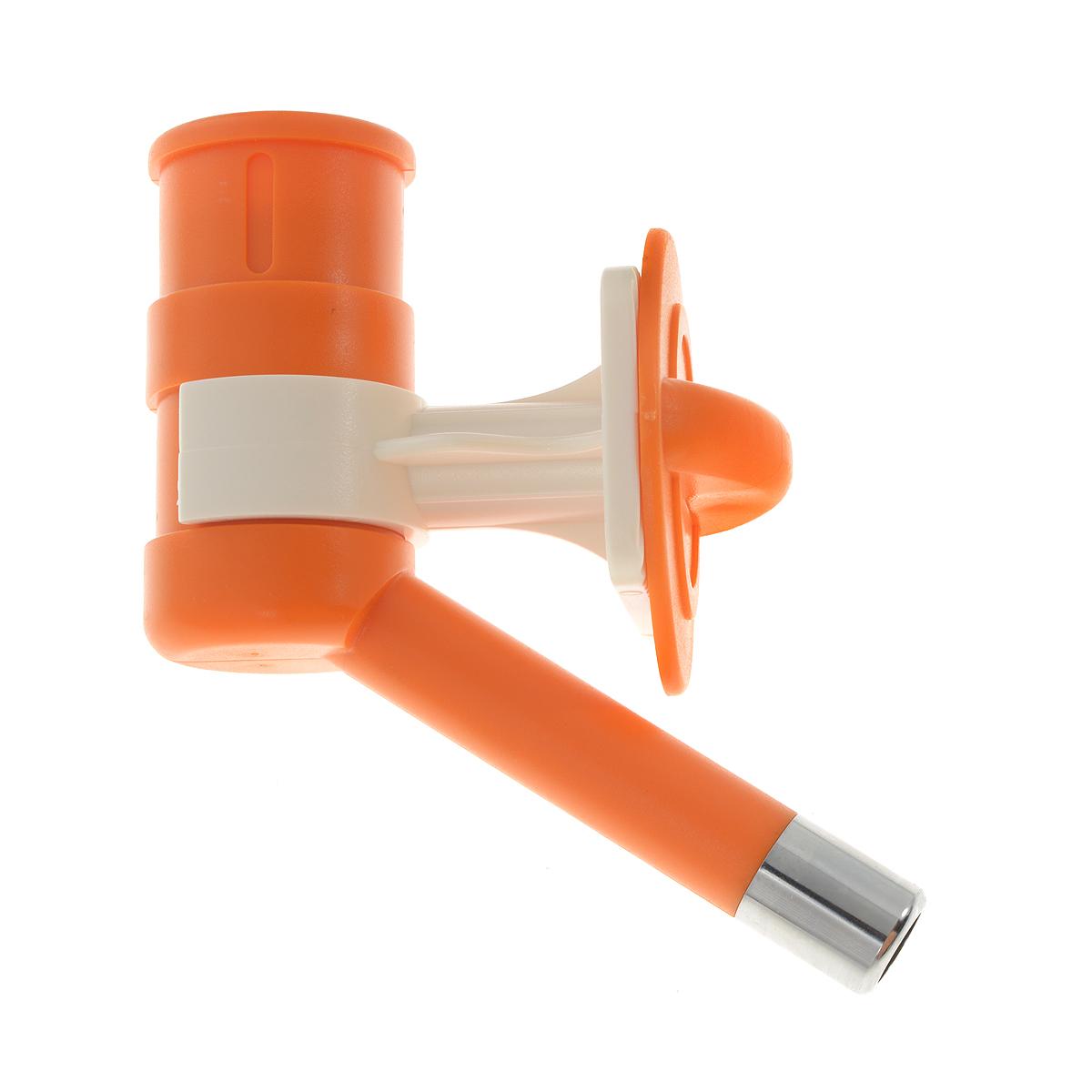 Автопоилка для животных, универсальная, цвет: оранжевый кормушка triol p510 автопоилка для животных регулировка высоты