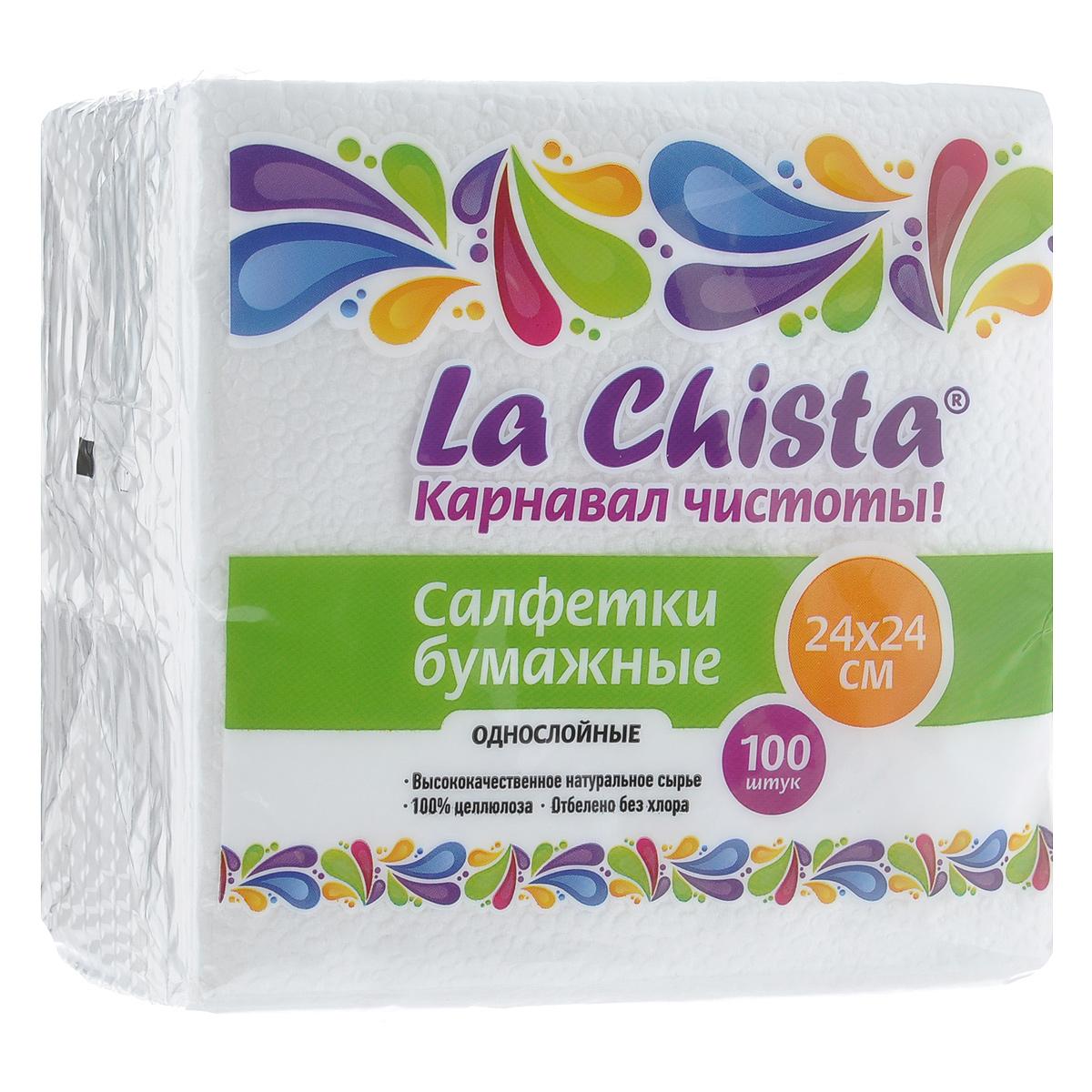 """Салфетки бумажные сервировочные La Chista Салфетки бумажные """"La Chista"""", однослойные, 100 шт"""