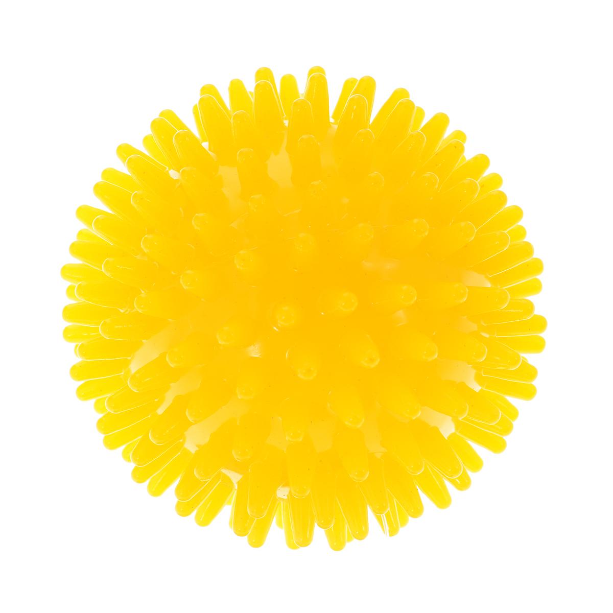 Игрушка для собак V.I.Pet Массажный мяч, цвет: желтый, диаметр 5,5 смBL11-015-55Игрушка для собак V.I.Pet Массажный мяч, изготовленная из ПВХ, предназначена для массажа и самомассажа рефлексогенных зон. Она имеет мягкие закругленные массажные шипы, эффективно массирующие и не травмирующие кожу. Игрушка не позволит скучать вашему питомцу ни дома, ни на улице. Диаметр: 5,5 см.