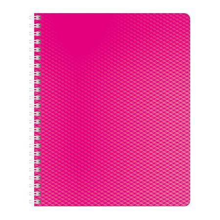 Тетрадь 80л А5ф Пластиковая обложка на гребне DIAMOND НЕОН розовая тетрадь 120л а5ф на 4 х кольцах пластиковая обложка на резинке diamond неон желтая