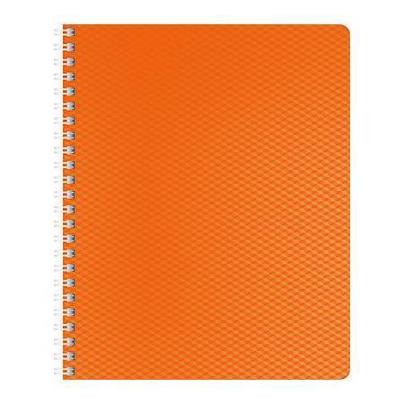 Тетрадь 80л А5ф Пластиковая обложка на гребне DIAMOND НЕОН оранжевая тетрадь 120л а5ф на 4 х кольцах пластиковая обложка на резинке diamond неон желтая