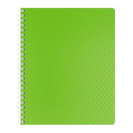 Тетрадь 80л А5ф Пластиковая обложка на гребне DIAMOND НЕОН зеленая тетрадь 120л а5ф на 4 х кольцах пластиковая обложка на резинке diamond неон желтая