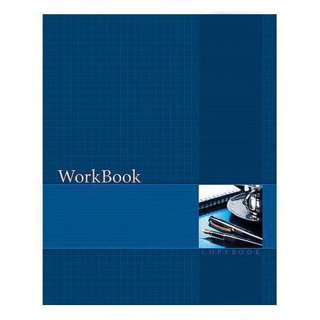 Тетрадь 96л А5ф клетка сшито клеен. тиснение WorkBook Синяя