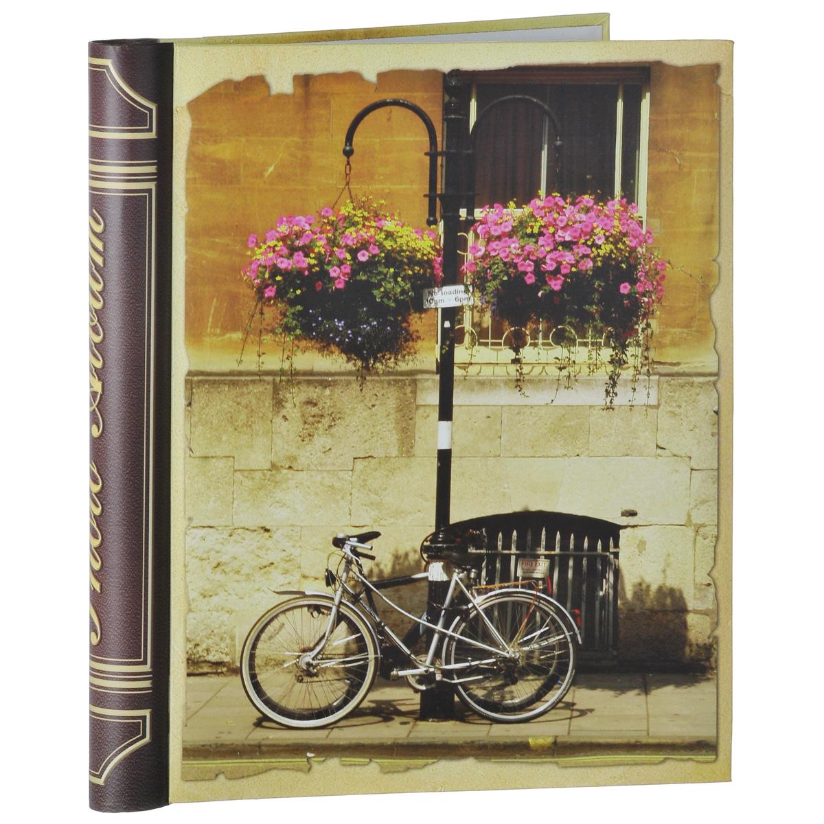 """Фотоальбом Феникс-презент """"Велосипед"""", на кольцах, 10 магнитных листов, 24,5 х 29 см"""