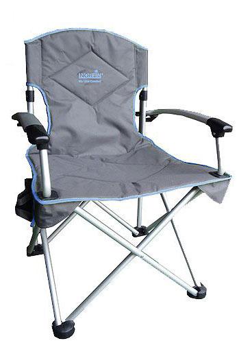 Кресло складное Norfin Oriversi NFL Alu, цвет: серый, голубой, 67 см х 61 см х 98 см цена