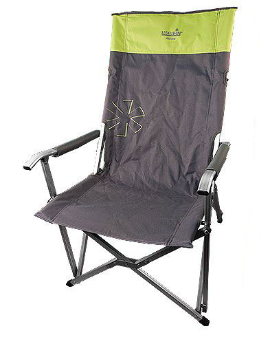 Кресло складное Norfin Vaasa NF Alu, цвет: серый, зеленый, 62 см х 56 см х 95 см стол norfin glomma s alu 70x70 nf 20302