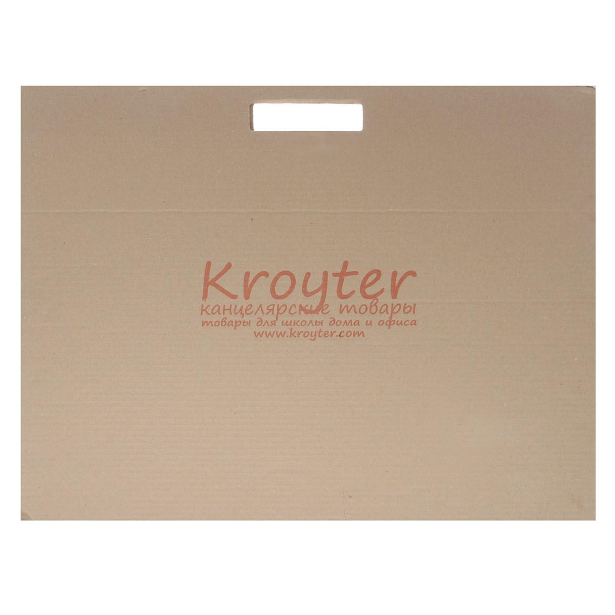 Папка для черчения Kroyter, 10 листов, формат А2 папка для черчения kroyter a2 10 листов 369972