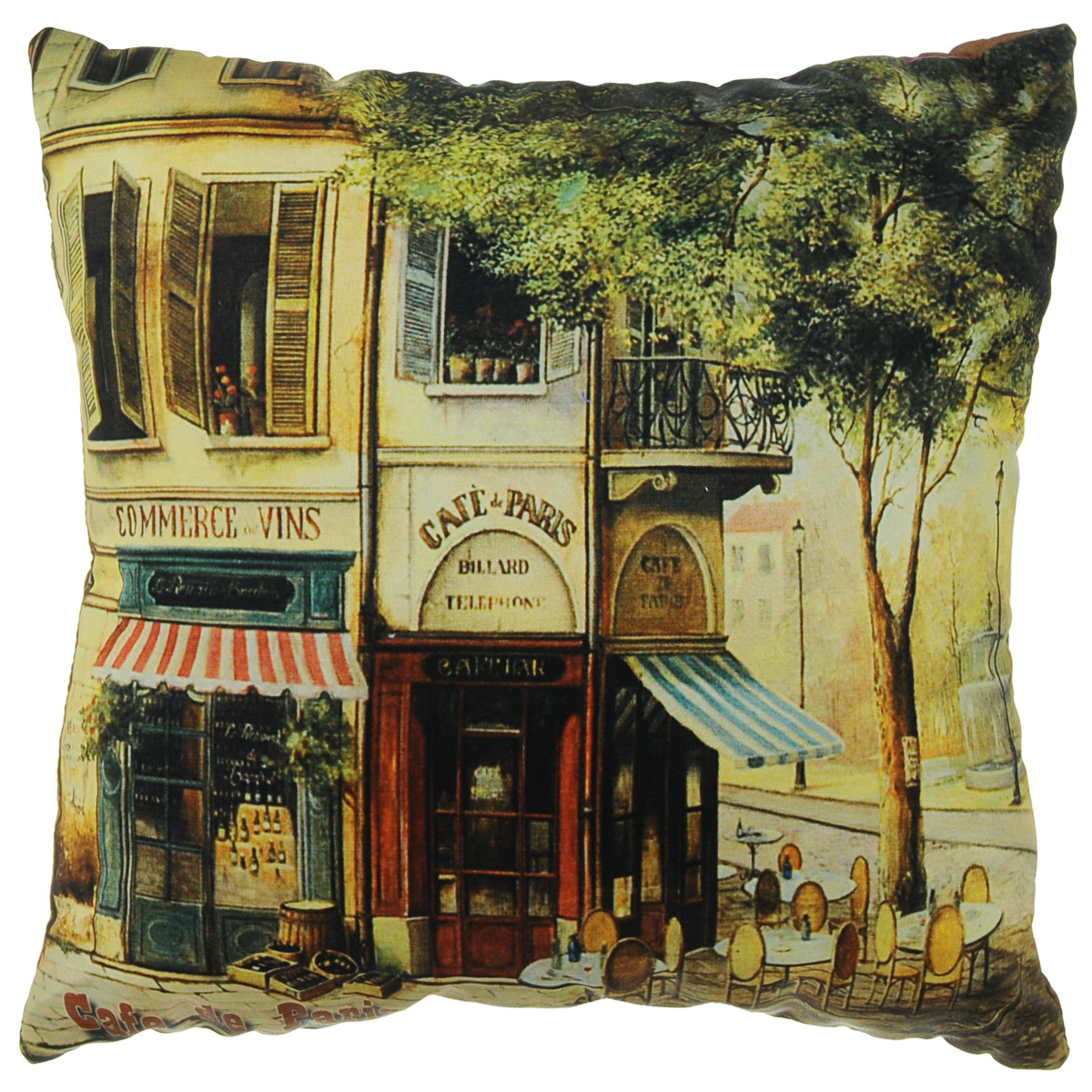 Подушка декоративная Gift'n'Home Парижское кафе, 35 х 35 см цена