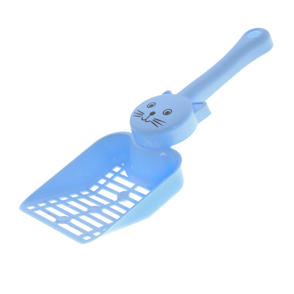 Совок для кошачьего туалета, цвет: голубой. P203 совок v i pet для кошачьего туалета цвет салатовый длина 20 см
