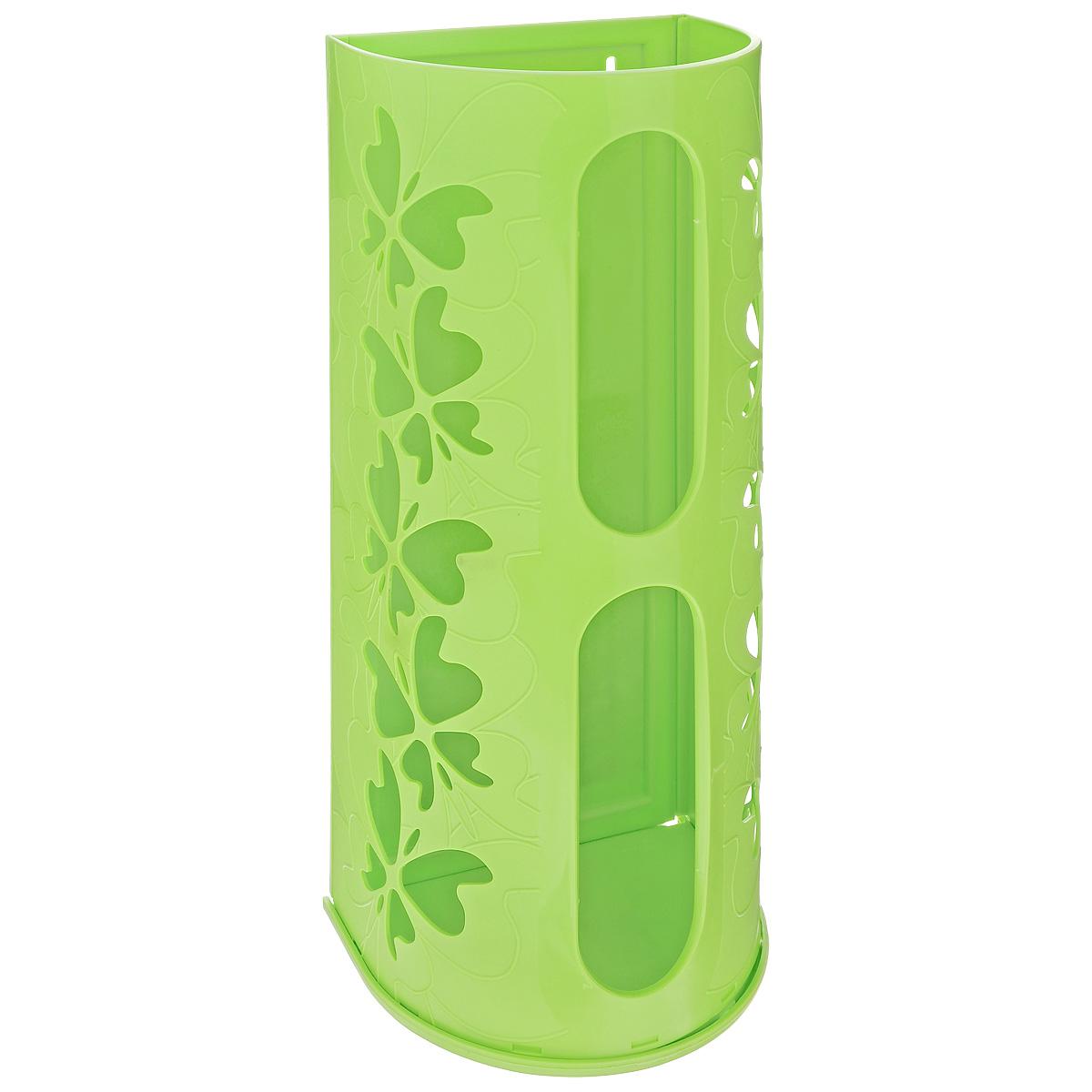 Корзина для пакетов Berossi Fly, цвет: салатовый, 16 х 13 х 37,5 см корзина для хранения альтернатива вдохновение цвет салатовый 26 5 х 16 5 х 10 см