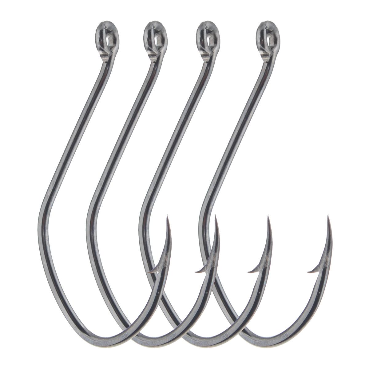 Крючки рыболовные Cobra Catfish, цвет: черный, размер 6/0, 4 шт крючки рыболовные cobra feeder master цвет черный размер 10 10 шт