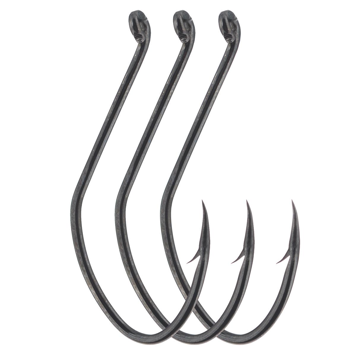 Крючки рыболовные Cobra Catfish, цвет: черный, размер 8/0, 3 шт крючки рыболовные cobra feeder master цвет черный размер 10 10 шт