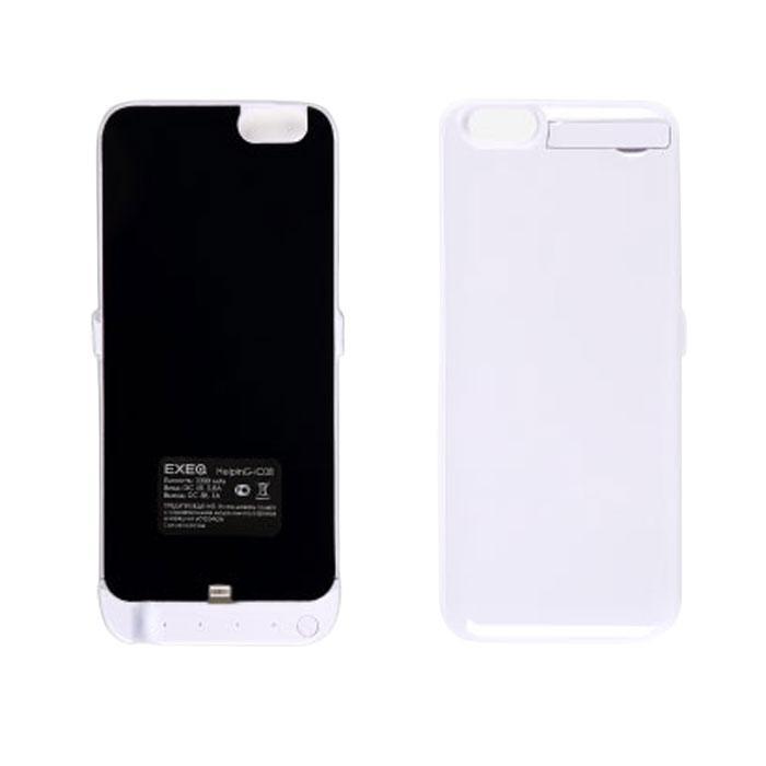 Фото - EXEQ HelpinG-iC08 чехол-аккумулятор для iPhone 6, White (3300 мАч, клип-кейс) аккумулятор