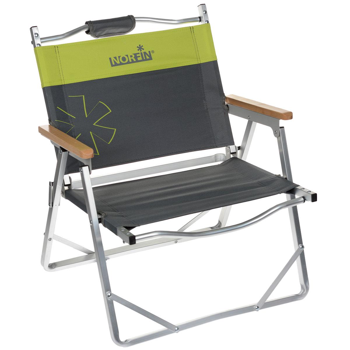 Кресло складное Norfin Alesund NF Alu, цвет: серый, желтый, 47 см х 54 см х 62 см кресло складное happy camper цвет желтый оранжевый