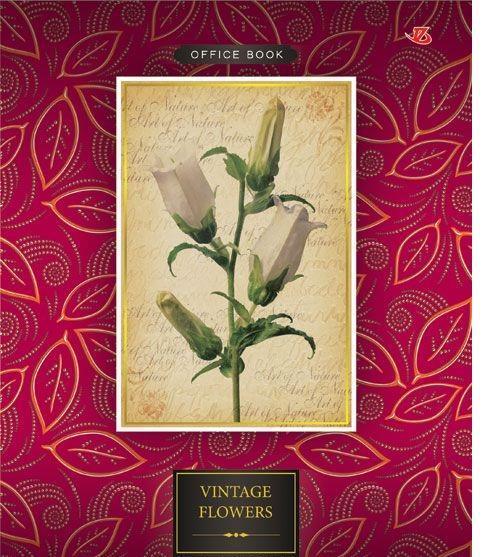 """Seventeen Тетрадь в клетку """"Vintage Flowers"""", 80 листов, формат А5"""