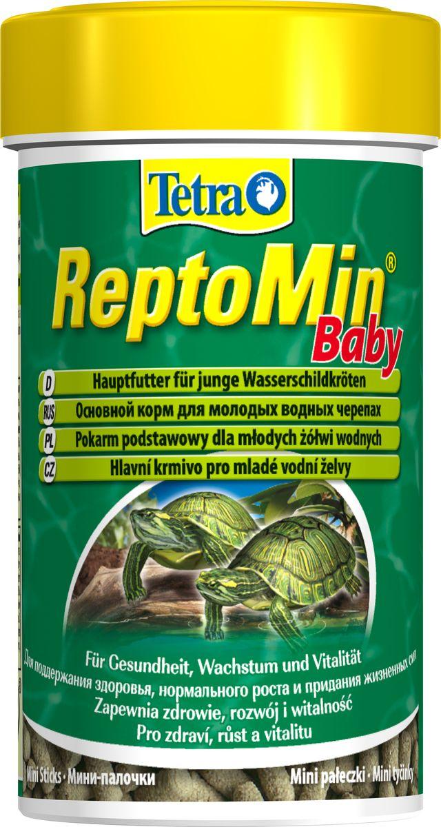 Корм Tetra ReptoMin Baby для молодых водных черепах, 100 мл корм tetra reptomin junior для молодых водных черепах палочки 250 мл