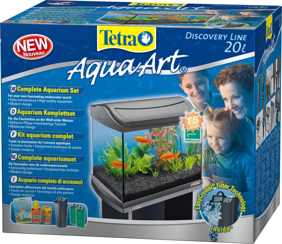 Фото - Аквариумный комплекс Tetra AquaArt, цвет: серый, 20 л аквариумный комплекс tetra aquaart цвет серый 20 л