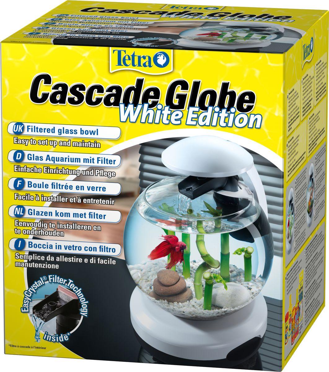 Фото - Аквариумный комплекс Tetra Cascade Globe, цвет: белый, 6,8 л аквариумный комплекс tetra cascade globe football 6 8л