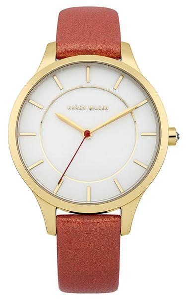 Часы наручные женские Karen Millen, цвет: золотой, коралловый. KM133R
